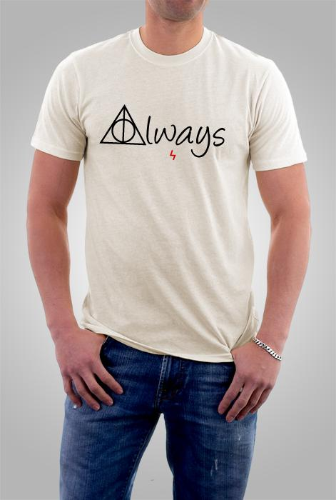 Camiseta Harry Potter Always Creme