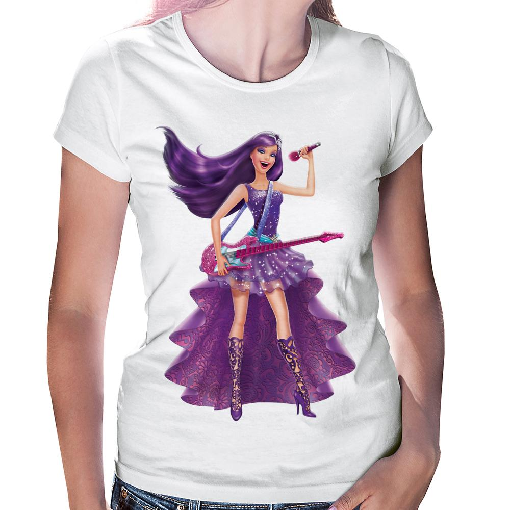 Camiseta Baby Look Barbie Pop Star Keira