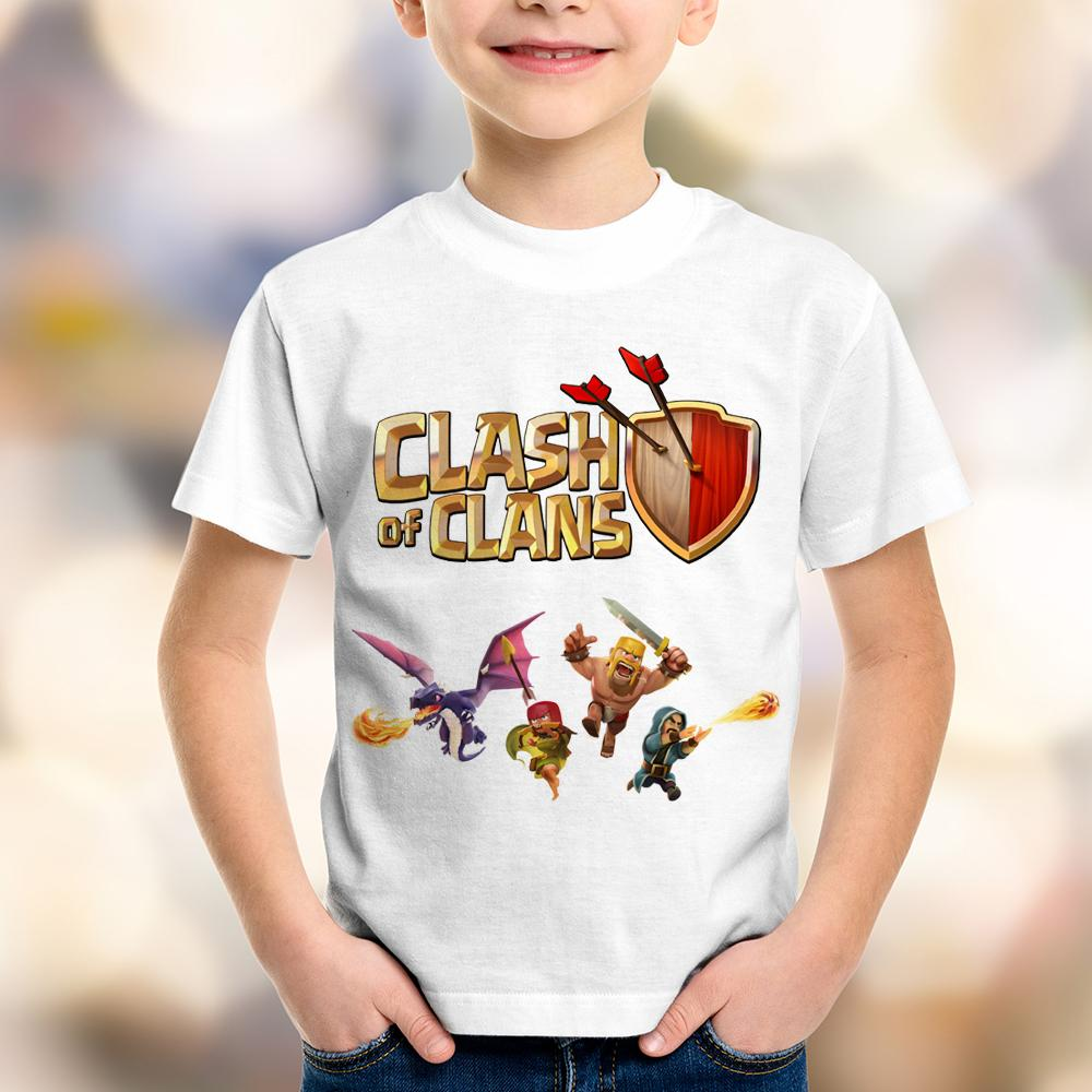 Camiseta Infantil Clash of Clans