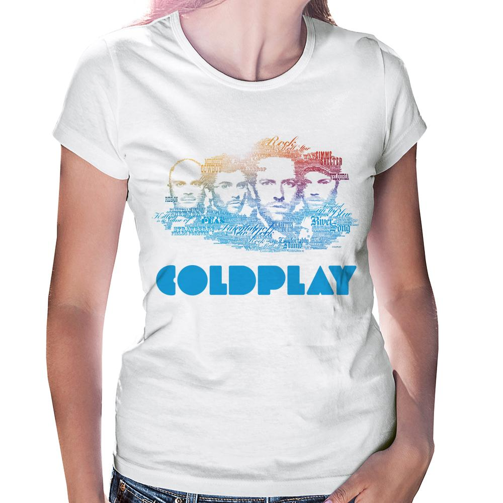 Camiseta Baby Look Coldplay
