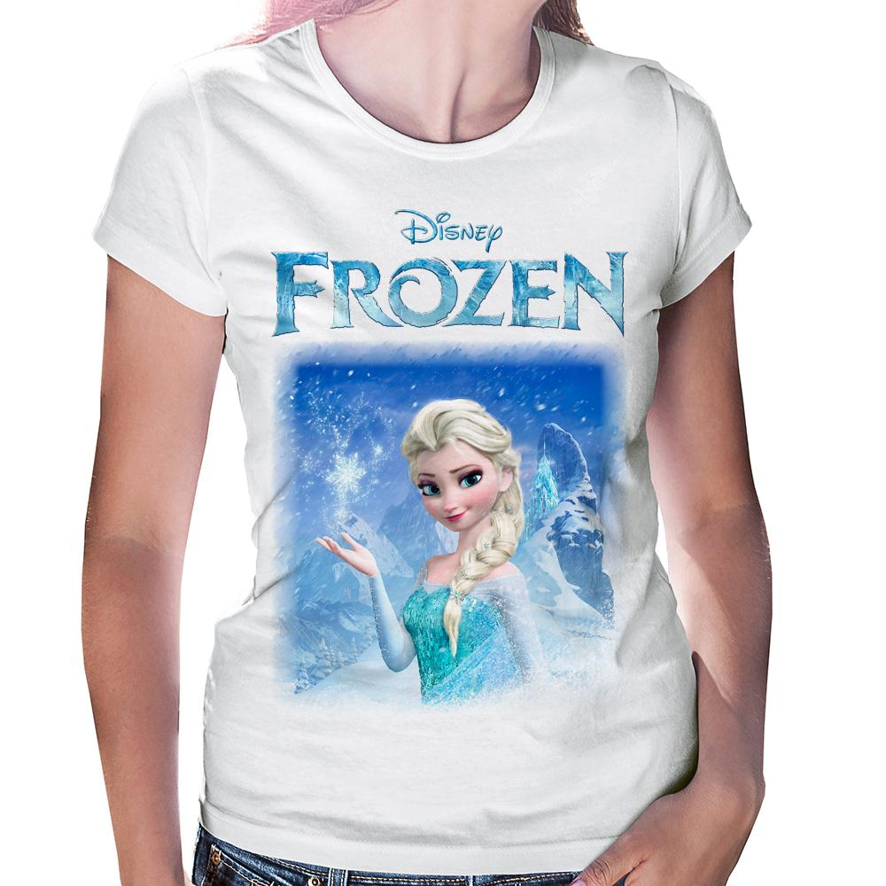 Camiseta Baby Look Frozen Elsa