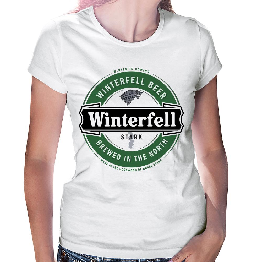 Camiseta Baby Look Game of Thrones Heineken Winterfell