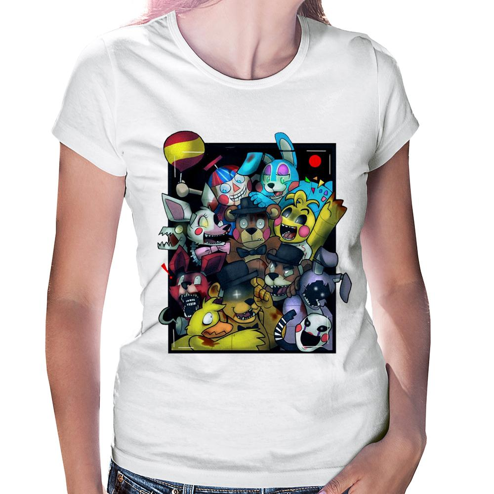 Camiseta Baby Look Five Nights At Freddy's