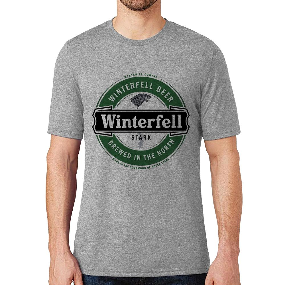 fc734560f0b52 ... Camiseta Game of Thrones Winterfell Beer - Cinza