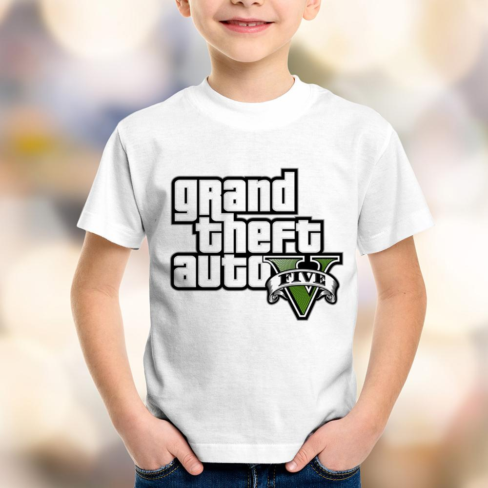 Camiseta Infantil Grand Theft Auto V (GTA 5)