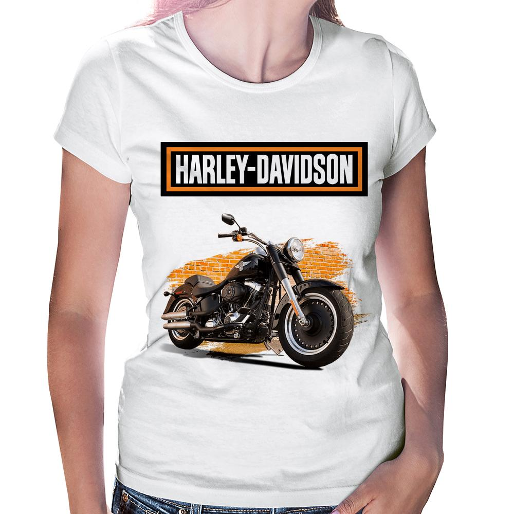 Camiseta Baby Look Harley Davidson Softail Fat Boy