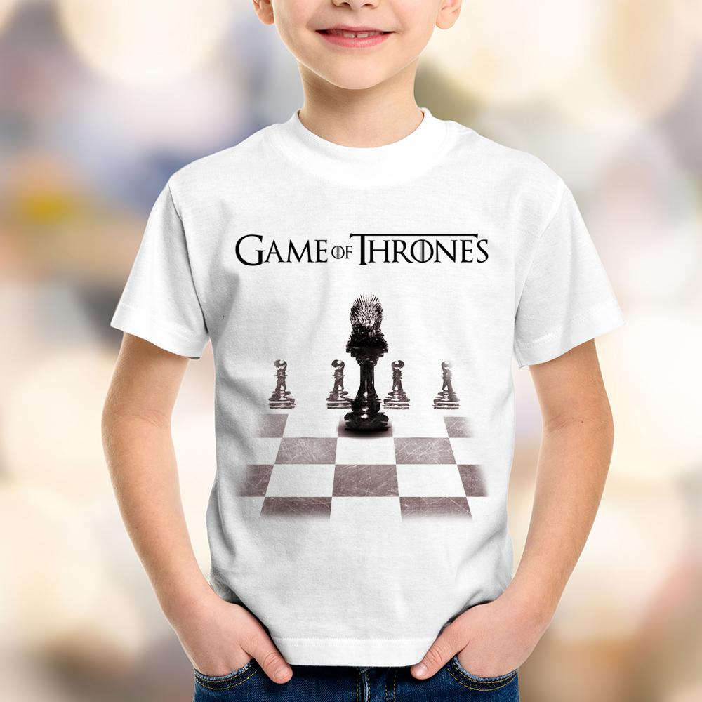 Camiseta Infantil Game of Thrones Xadrez