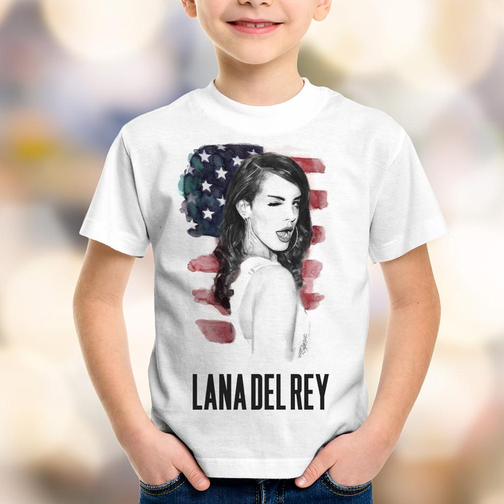 Camiseta Infantil Lana Del Rey Pin Up Retro USA