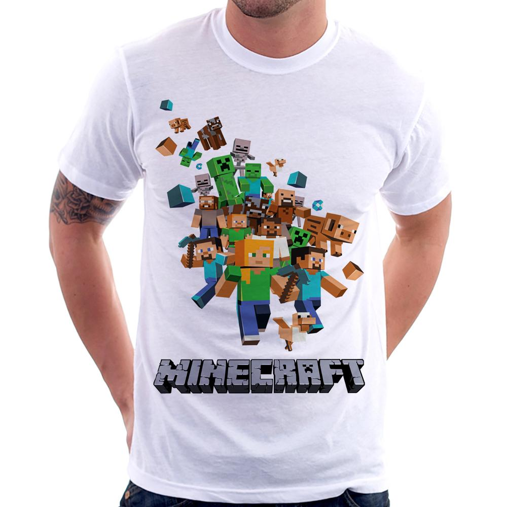 Camiseta Minecraft Steve Creeper