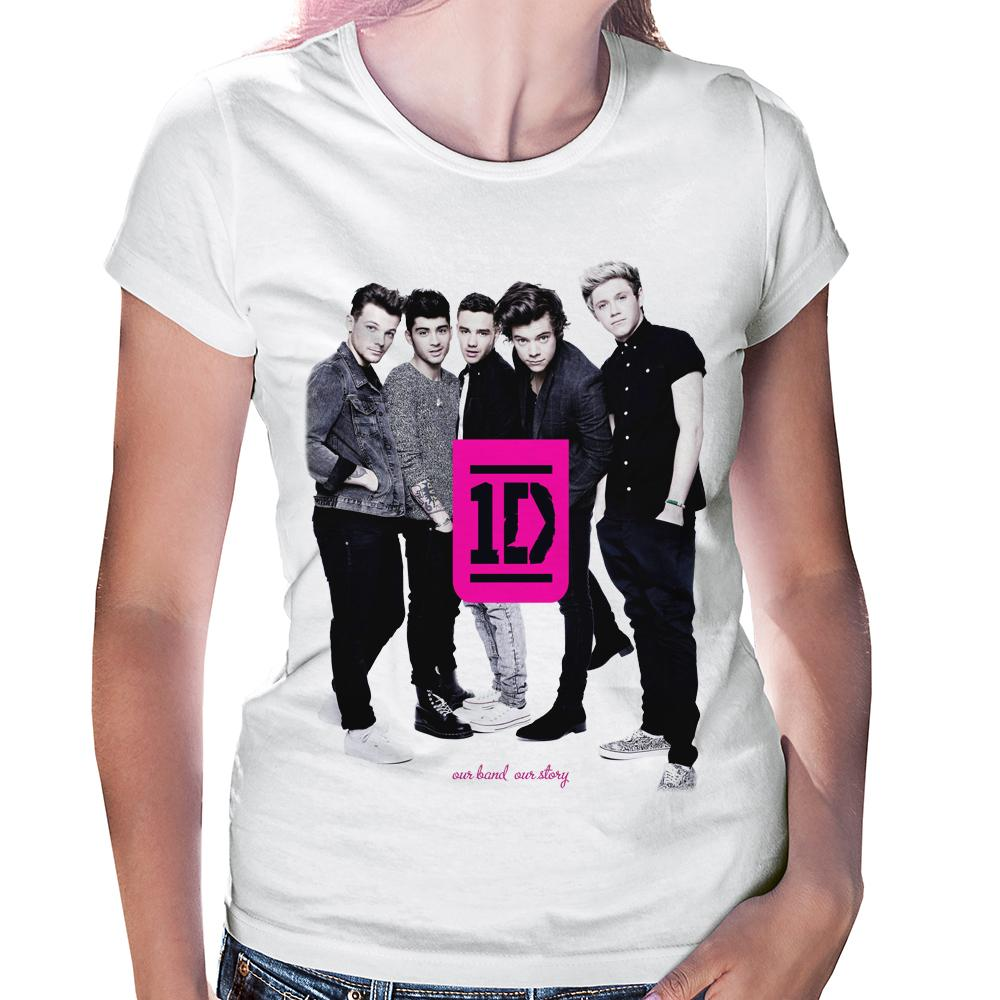 Camiseta Baby Look One Direction (1D)