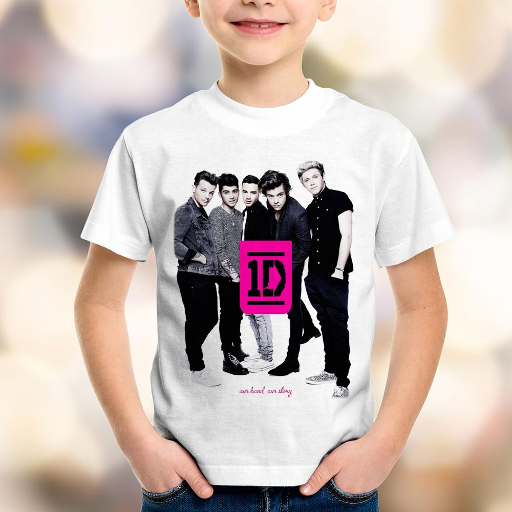 Camiseta Infantil One Direction (1D)