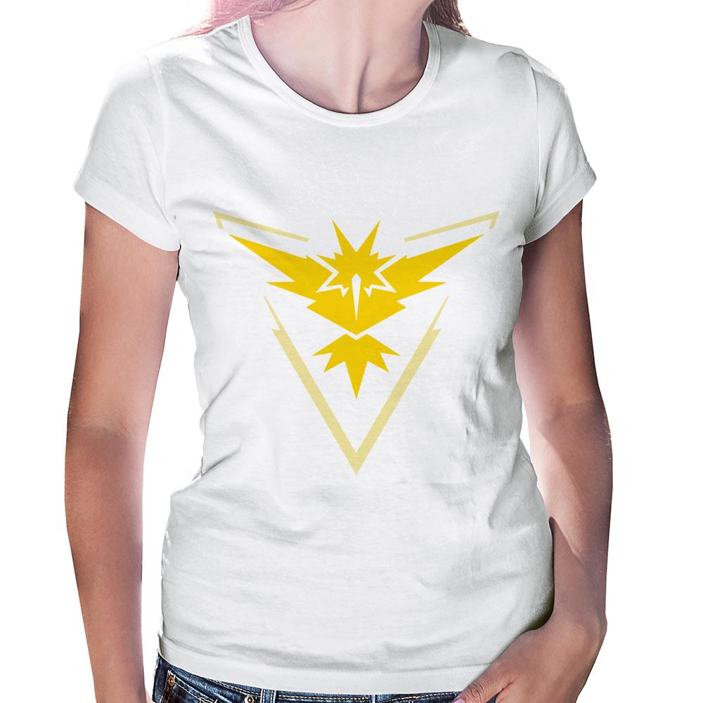 Camiseta Baby Look Pokémon Go Team Instinct