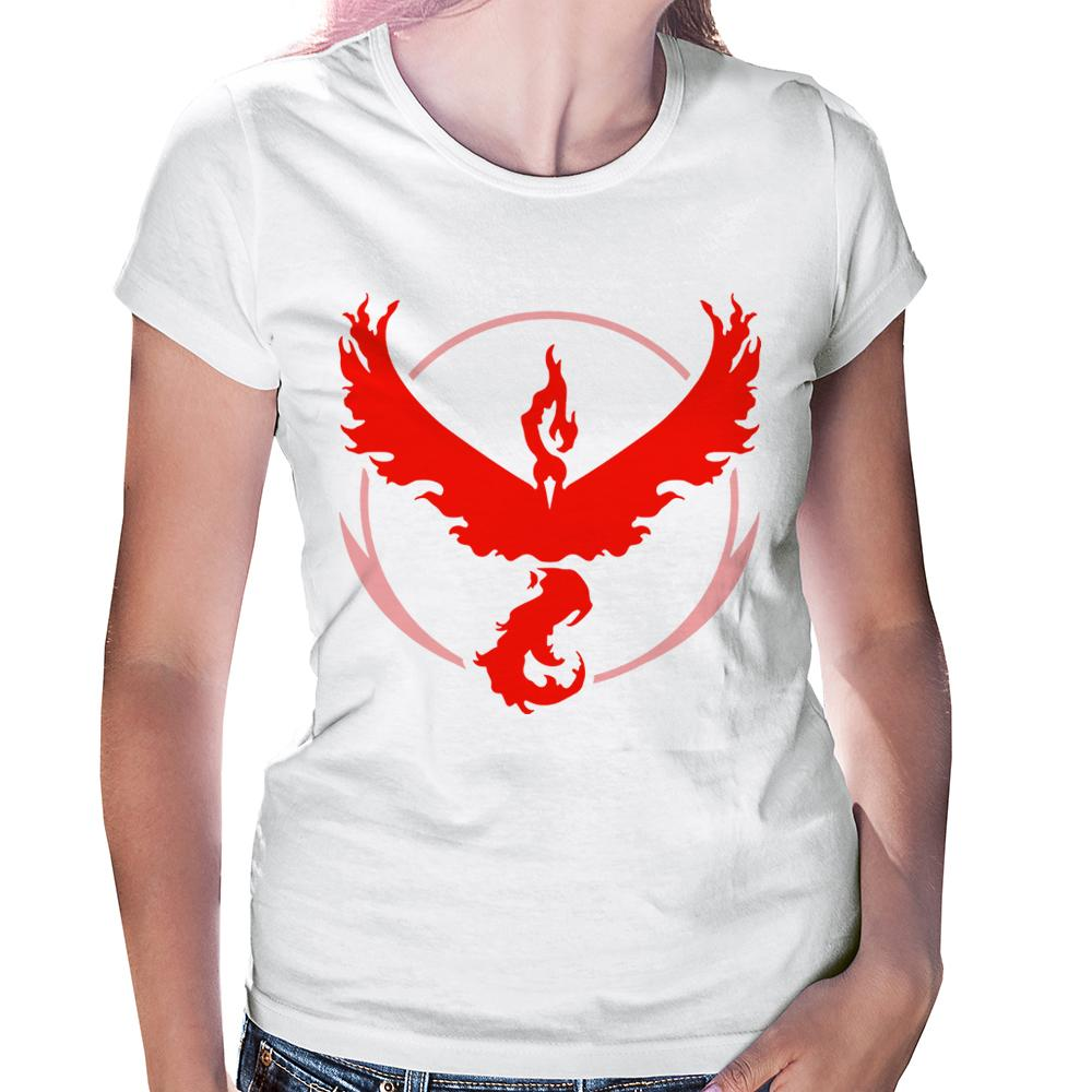 Camiseta Baby Look Pokémon Go Team Valor
