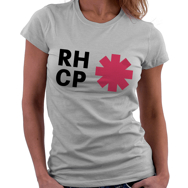 Camiseta Baby Look Infantojuvenil Red Hot Chili Peppers