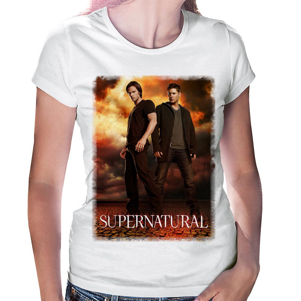 Camiseta Baby Look Supernatural Sam and Dean Winchester