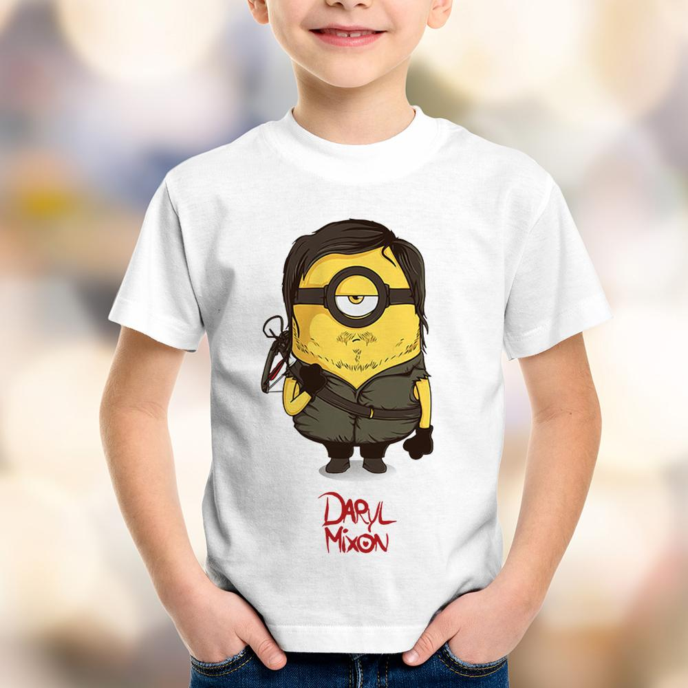 Camiseta Infantil The Walking Dead Daryl Minion