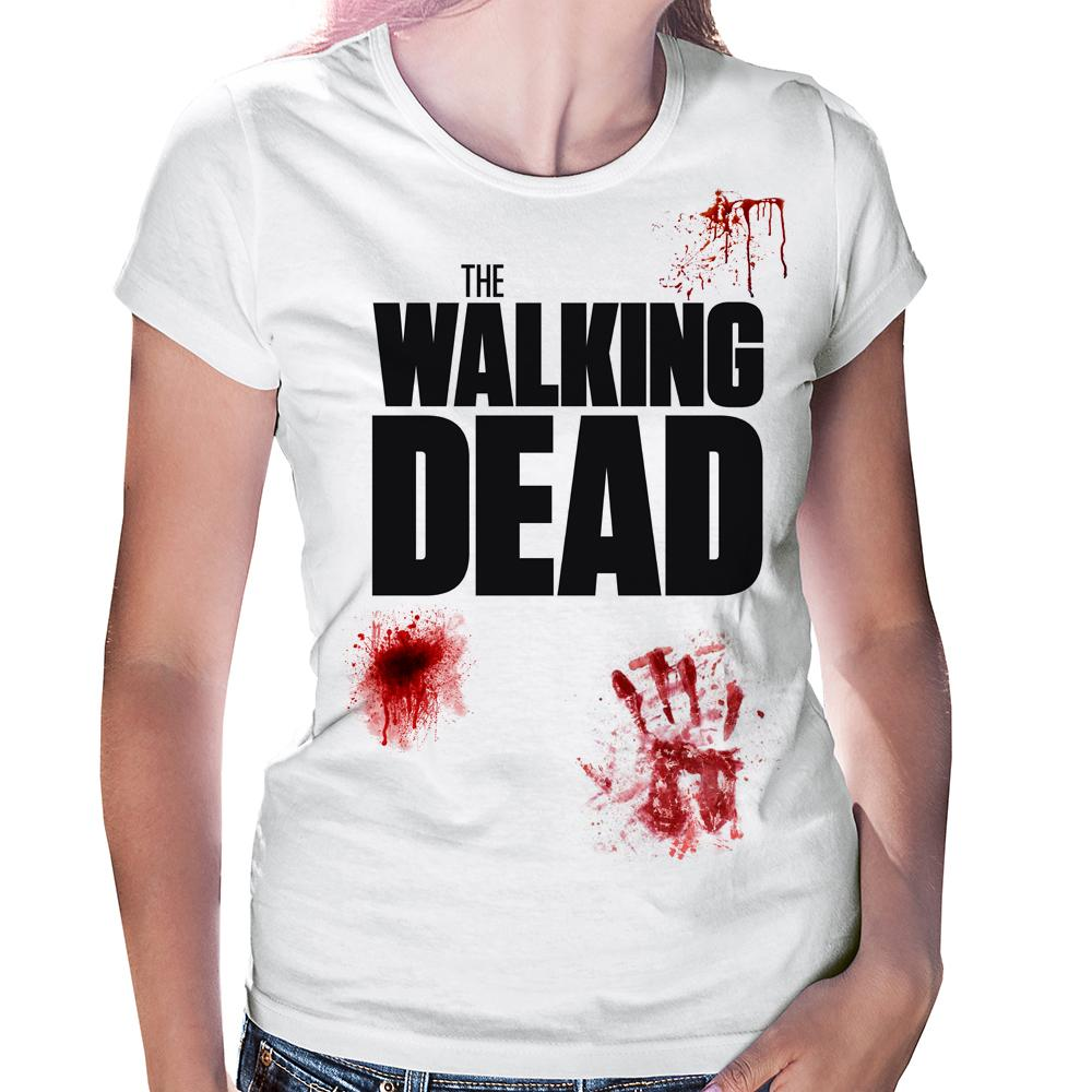 Camiseta Baby Look The Walking Dead Sangue