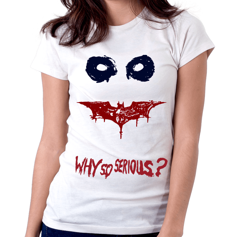 Camiseta Baby Look Infantojuvenil Coringa Why So Serious?